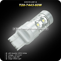Free Shipping 2pcs/lot  60w High Power LED Vehicles Car Turn Signal Brake Lights Bulbs 7440 7443 t20 SMD