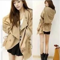 2014 Autumn winter jackets women coat jacket desigual trench windbreaker Magazine article casacos femininos