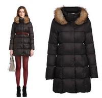 2014 New Winter women's fashion fur Luxury collars white duck down jacket,brand outdoor jacket,outwear coat,winter jackets