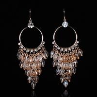 New Fashion Handmade Cryatal Ear Holder Drop Earrings for  Women 3 Colors Free Shipping EA-03139 (Mini order is $10)