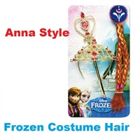New style,Frozen princess Anna Ornaments,Frozen Magic Wand Rhinestone Crown Hair Band Hairpiece,Wig Children Party Accessories