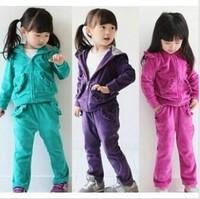 Retail 1 Set Spring Autumn New 2014 Kid Clothing Set Girls Long Sleeves Clothing Sets Fashion 2pcs CC1198