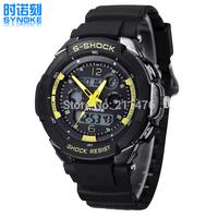 Min.order $10 Japanese PC dual movement Digital LED Backlight Date Sportwatch waterproof Rubber Unisex /baby Sport Wrist Watch