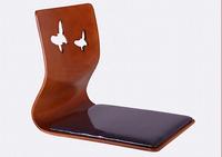 (6pcs/lot) Living Room Furniture For Restaurant Use Cherry Color Legless Zaisu Japanese Tatami Chairs