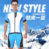 Inbike 2014 cool summer short-sleeve ride service set Men ride short-sleeve shorts ride