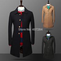 New style men trench coat  fashion  Slim men trench men overcoat