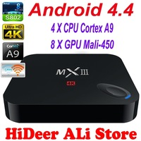 MXIII Android TV Box Amlogic S802 Quad Core XBMC 2G/8G 2.4G/5G WiFi Mali450 Bluetooth 4k Android 4.4 MX III for Smart TV