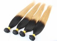 5A Peruvian Virgin Hair Straight OMBRE Extension FREE SHIPPING 4PCS/LOT Human BULK Hair Weaves Peruvian Straight Hair Extensions