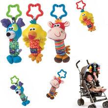 Details about Kids Baby Soft Toy Animal Handbells Rattles Bed Stroller Bells Developmental Toy(China (Mainland))