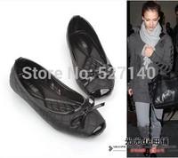 2014 newly fashion flat shoes sweet bowknot Asaguchi Ogatazuhira with a women's Shoes