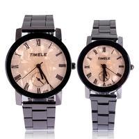 Free shipping hot sale fashion stainless steel strap quartz watch lovers couple men women dress watches luxury