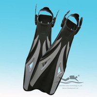 Professional PP+TPE grey Diving Fins shoes dive athletic equipment F-08G