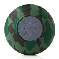 Mini Waterproof Stereo Wireless Bluetooth Speaker Handsfree with Suction Cup Camouflage