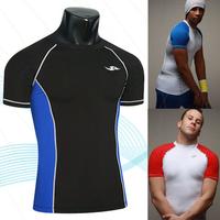 Hot sale 2014 New summer Men's Designer Quick Drying Casual T-Shirts Tee Shirt Slim Fit Absorbent material New Sport Shirt