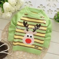 Hot wholesale children / Baby stripe sweater , Baby pullover  Sweater . baby stripe Sweater . ( 3pcs / lot ) Free shipping