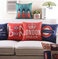 London impression of the car Free shipping FASHION London Theme pillow linen Cotton PillowCase Pillow cover and cushion cover