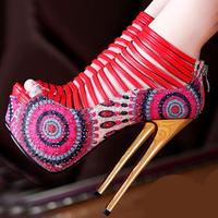 New Open Toe High Heels Women Platform Wedges Pumps Brand New Design Less Red Bottom High Heels Sandals Shoes Women DGGG3003