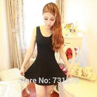 Summer dress 2014 Pleated sleeveless dress mini Slim  casual Dress LYQ001