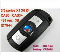 Remote Key 3 Button for BM-W BM 3/5 Series X1 X6 Z4 434MHZ With ID7944 Chip