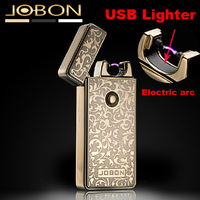 2014 New arrival Tiger windproof ultra-thin metal electric arc pulse usb lighters Rechargeable Flameless electronic lighters