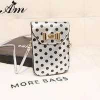 Hot sale 2014 New arrival lady mobile phone bags bow mini bags kids shoulder bags girls messenger bag women coin purse Wholesale
