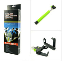 Bluetooth Self-Shooting Monopod of Mobile Phone Wireless  7 Sections Foldable Fit for IOS Android Smartphone Holder Three Colors