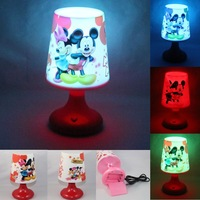 Mickey&Minnie Mouse USB Battery LED Night Lamp,Multicolor Lamplight Night Lights Room Desk Table Light Chirstmas Birthday Gift