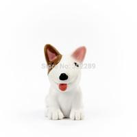 Resin mini Bull Terrier outdoor dog decoration