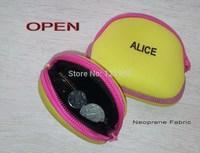 4PCS/LOT free shipping fashion coin purses NEOPRENE cute coin purse bag women wallets. women clutch