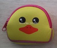 4PCS/LOT  New Fashion Zipper Coin Purse Wallet Burse Cartoon Key NEOPRENE Fabric  Bag Free Shipping