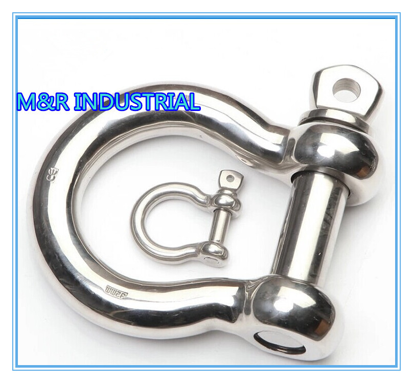 M5*20PCS BOW SHACKLE SS304 buckle Paracord Bracelets MARINE/BOAT HARDWARE(China (Mainland))