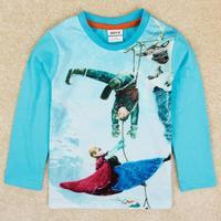 Newness Brand Boys Designer Cartoon t Shirt Nova Kids Frozen Boys Clothes Long Sleeve t-Shirt Free Shipping