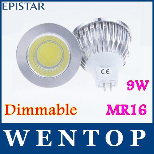 10 stück mr16 9w dimmbar cob geführt sport lampe high power lampe mehr als 120 Grad gu5.3 dc12v ac12v