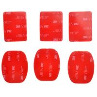 3M VHB Sticker Set for Gopro Helmet Mount  3pcs for flat + 3pcs for arc mount