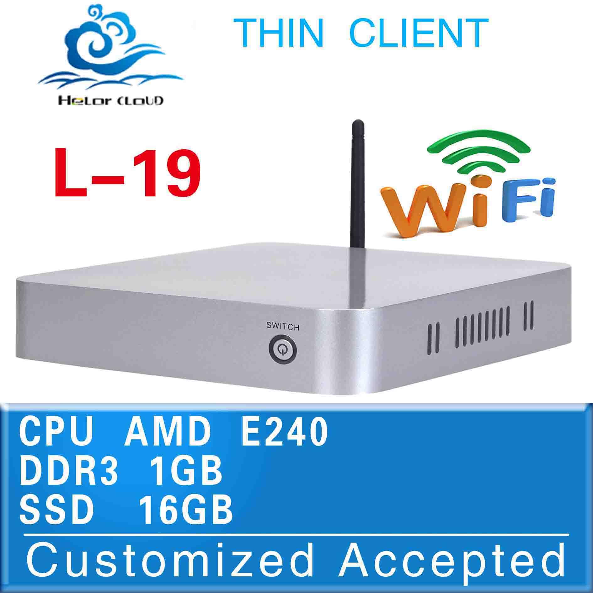 Hot sales! thin client mini pc htpc Pc host L19 E240 CPU 1GB RAM 16GB SSD AMD Hudson D1 4*USB2.0,1*HDMI 1.3,1*VGA,1*MIC,1*SPK(China (Mainland))