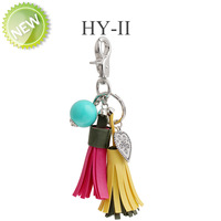 New 2014 Fashion heart leather keychain novelty items Romatic Birthday Gift tassels Key Chains Far For Bag key holder Wholesale