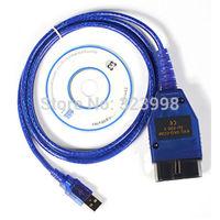 Free shipping USB Cable Car Diagnose tool KKL VAG 409.1 OBD2 OBD OBDII VAG COM 409 Scanner for VW/AUD
