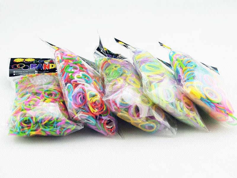 Wholesale -DIY Loom Bands Glitter/Jelly/Glow in the dark /Dual Color/Multi Color Rubber Loom Band Wrist Bracelet /DHL(China (Mainland))