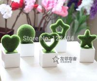 Artificial flower set diaphragn decoration rustic home accessories plush bonsai artificial plants bonsai