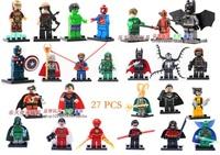 Decool Building Blocks Super Heroes Avengers figures Deadpool Superman Loki Hulk Flash Captain America toys Compatible With Lego