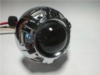 Free shipping Motorcycle headlight double optical lens angel eyes xenon lamp streetfighter headlight