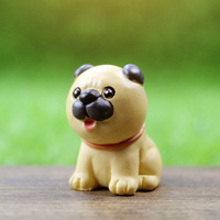 Resin mini chow chow outdoor dog decoration
