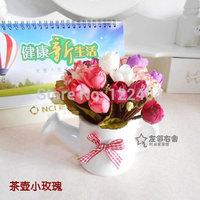 Rustic fashion artificial flower artificial flower small bonsai decoration partition decoration teapot set flower