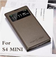 2014 new style Flip Original leather           S4 mini back Cover phone case For Samsung Galaxy mini s 4 i9190