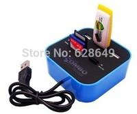 Hot Sale 3 port usb hub 2.0 HUB with Micro multi card reader for SD/MMC/M2/MS/MP Pro Duo b9 SV000909