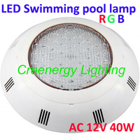 PC material 40W RGB LED Swimming Pool lamp Wall mounted LED Fountain Light Lamp AC 12V with remote controller 2 Pcs/lot