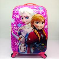 Frozen Travel Suitcase Frozen princess Elsa & Anna vintage trolley bag 16 inch hardside spinner luggage Kids travelling suitcase