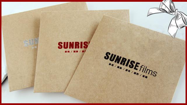 Customized 100pcs Kraft Paper CD DVD Disc Storage Bag Envelope Sleeve CD Paper Bag With Foil Printing, Free Shipping(China (Mainland))