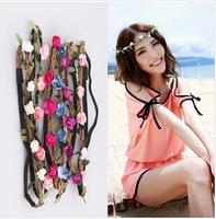 5pcs/lot Seaside sandbeach flower headbands Bride bridesmaid garland  hairbands Fashion women hair accessories Sweet hair bands