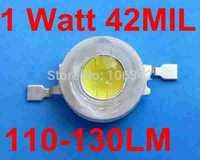 Free Shipping 1Watt High Power LED 50pcs/lot 1 Watt 42mil  Epistar Chip 110-130lm Power LED